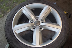Alloy wheel totally refurbished